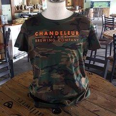 Chandeleur Island Brewing Company Camo Mens T-Shirt