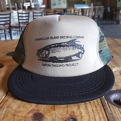 Chandeleur Island Brewing Company Tarpon Tagging Project Camo/Black Hat
