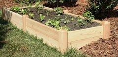 """2'x8' - 11"""" high Cedar Raised Garden Bed by Marleywood"""