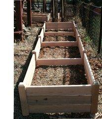 """4'x16' - 16"""" high Cedar Raised Garden Bed by Marleywood"""