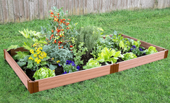 "Frame It All Raised Garden Bed 4' x 8' x 5.5"" – 1"" profile - Classic Sienna"