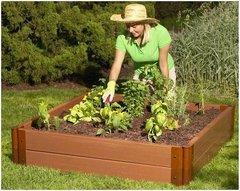 "Composite Raised Bed Garden - 4'x4'x11"" - 2inch profile"