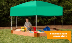 Frame-it-All Telescoping Hexagon Sandbox Canopy & Cover