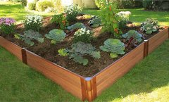 Composite Raised Garden Kit 8ft. X 8ft. X 11 in. Square (1 inch profile)