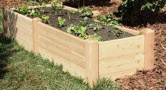 """2'x8' - 16"""" high Cedar Raised Garden Bed by Marleywood"""