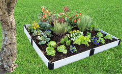 "Frame It All Raised Garden Bed 8' x 8' x 8"" - Classic White"