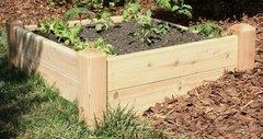 """4'x4' - 11"""" high Cedar Raised Garden Bed by Marleywood"""