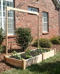 8' long x 7' high Cedar Trellis kit for Raised Garden Bed by Marleywood