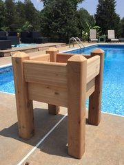 "Marleywood Elevated Patio Planter - 2' x 2' with 37"" posts"