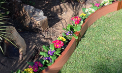 "Frame It All Backyard Border Kit – 16' x 2"" Curved Kit- Classic Sienna"