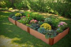 "Composite Raised Bed Garden - 4'x12'x11"" (2 inch profile)"