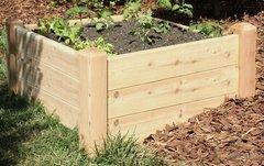 """2'x4' - 16"""" high Cedar Raised Garden Bed by Marleywood"""