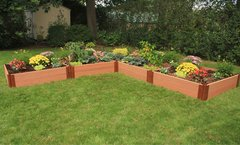 Composite Raised Garden 12ft. X 12ft. X 11in. L-Shaped (1 inch profile)