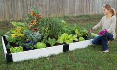 "Frame It All Composite Raised Bed Garden - 4'x8'x8"" - White"