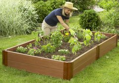 Frame It All Composite Raised Garden Kit 4ft. X 8ft. X 11in. Rectangle (2 inch profile)