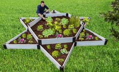 "Frame It All Raised Garden Bed Garden Star 12' x 12' x 16"" - Classic White"