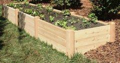 """4'x12' - 16"""" high Cedar Raised Garden Bed by Marleywood"""