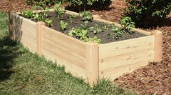 "Marleywood Cedar Raised Garden Beds 4'x8' - 16"" high"