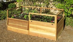 Maine Kitchen Garden - 3'x6' Raised Cedar Bed