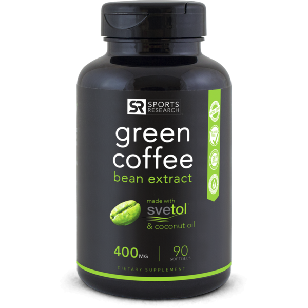 Green Coffee Bean Extract (400mg) - 90 softgels
