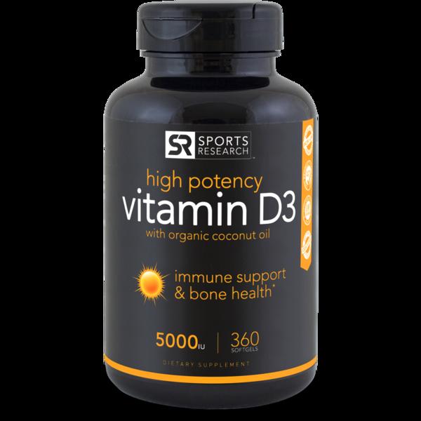 Vitamin D3 (5,000iu) - Sports Research