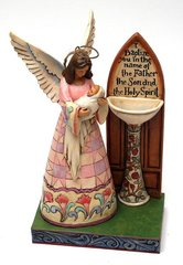 """Jim Shore- """"Baptised In His Name"""" Baptism Angel w/ Baby Figurine"""