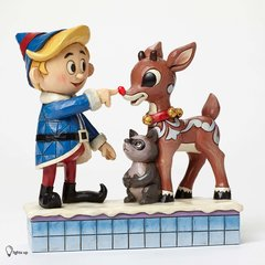 """Jim Shore - Rudolph Traditions - """"Hermey Touching Rudolph's Nose"""""""