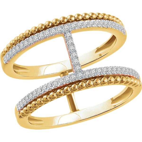14kt Yellow, White (or) Rose Gold, RSD-1/5 CTW Diamond