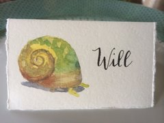 12 Printed Snail Place Cards