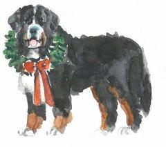 6 Printed Dog Gift Tags/Enclosures