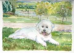 Watercolor Dog portraits