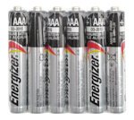 6 Energizer AAAA Alkaline Batteries for WorkStar® 220/224/226 Penlights