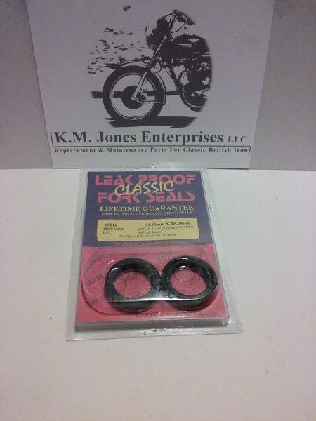 97-4001, Fork Seal, (97-7079 / H4001), Leak Proof, 1971-82 Triumph