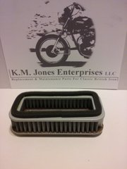 60-3072T / D3072, Air Filter Element, 1971-1972 Triumph OIF, Made in Taiwan, EMGO