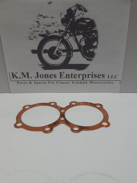 71-3681, Head Gasket, Copper, 10 Hole, Made in UK, Triumph T140/TR7