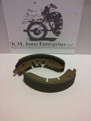 37-3713 / W3713, Brake Shoes, Front, Set, Conical, Made in Taiwan (EMGO)