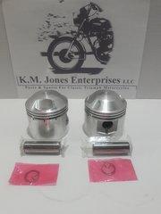 70-9488 / E9488, Piston, Set, Triumph 650, STD, 71mm (70-6868/E6868)