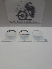 70-6864 / 70-6865, Piston Ring Set, STD, Triumph 650 1951-73, Hastings, (E6864/E6865)