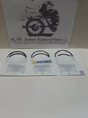 99-3791, Piston Ring Set, Hastings, +.020, T140/TR7, Made in USA
