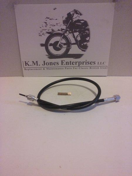 "DF9111/0024 (D3282/60-3933/60-0578), Tachometer Cable, 2'4"", w/Spade"