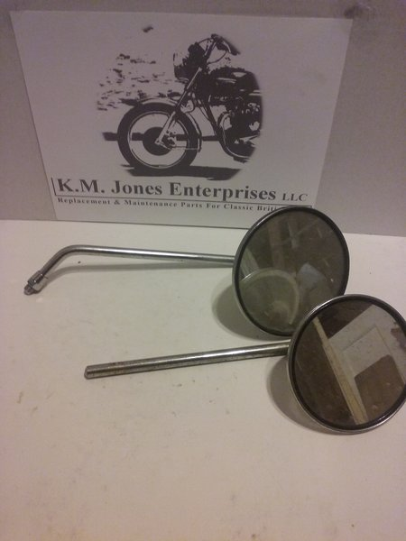 KMJ004, Vintage mirrors, off of '74 Honda CB550, used, pair