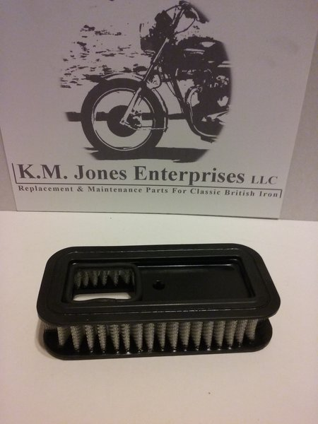 60-4265, Air Filter Element, Triumph 1976-1982, Made in UK