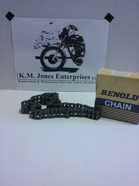 60-0477 / D477, Primary chain, Duplex, 650, 1963-72, RENOLD CHAIN