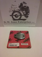 KMJ018, Master Cylinder cover, finned, Hinckley Triumph Bonneville's, 2001-15, mfg by Joker Machine