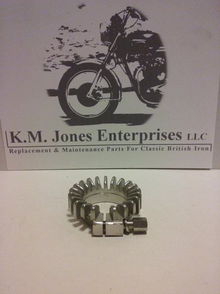 71-0216 / E10216, Clamp, Exhaust, Finned, Stainless, 650's