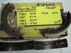 50-54 front braks shoes