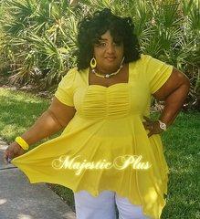 Babydoll Pixie Hem Top- Yellow
