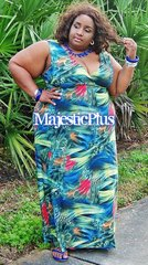 Bird Feathers SP Maxi Dress
