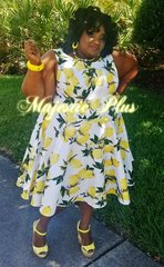 A-Line Fit & Flare Lemonade Dress