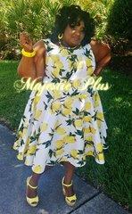 A-Line Fit & Flare Lemonade Dress